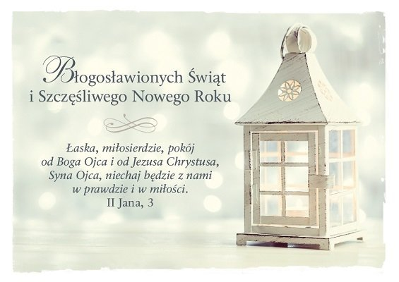 Kartka składana Boże Narodzenie 4 - Łaska, miłosierdzie, pokój