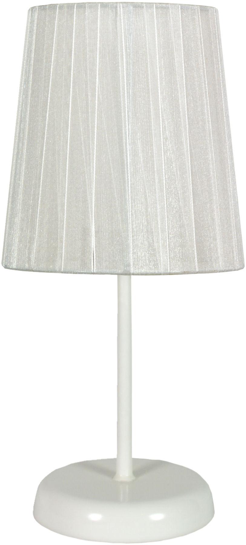 Candellux RIFASA 41-40848 lampa stołowa abażur biała 1X40W E14 14 cm