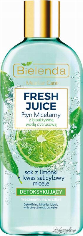 Bielenda - Fresh Juice - Detoxifing Micellar Liquid with Bioactive Citrus Water - Detoksykujący płyn micelarny z bioaktywną wodą cytrusową - 500 ml