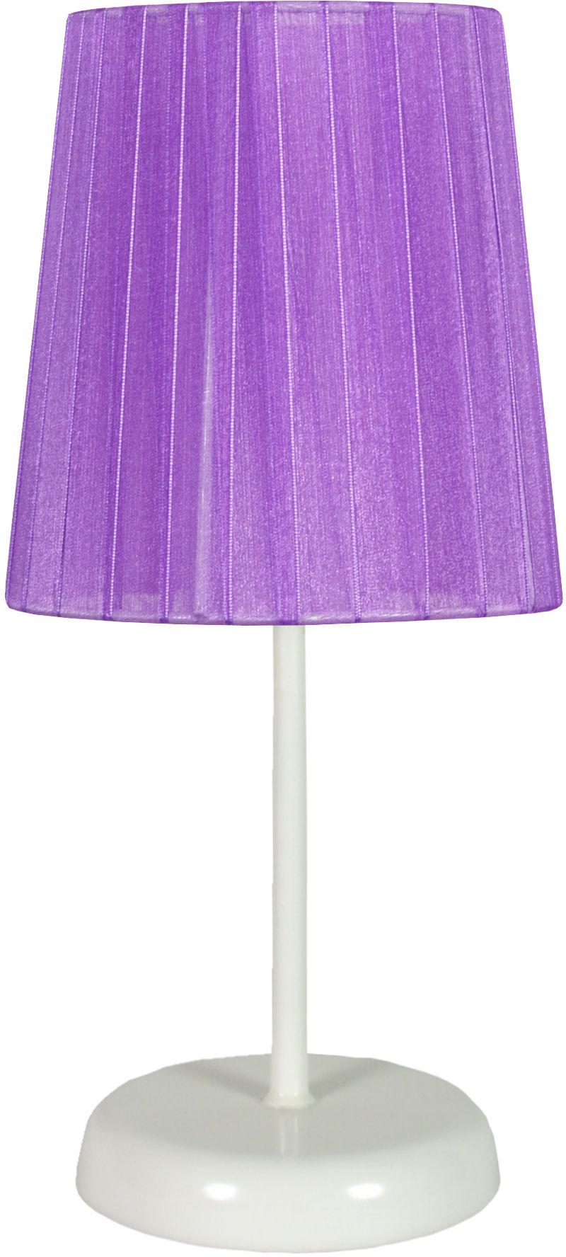 Candellux RIFASA 41-40855 lampa stołowa abażur fioletowa 1X40W E14 14 cm