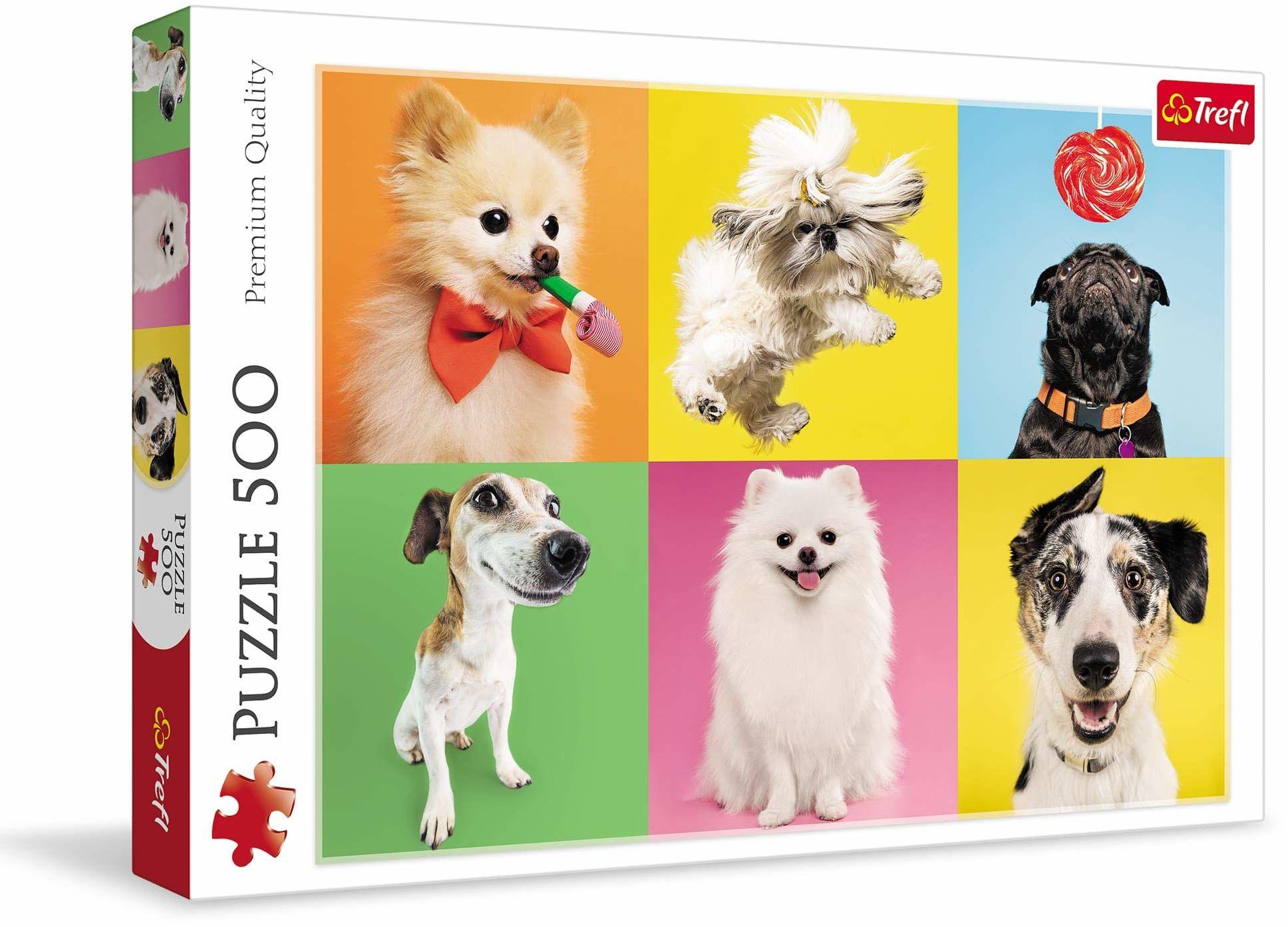 Trefl Psy Puzzle 500 Elementów o Wysokiej Jakości Nadruku dla Dorosłych i Dzieci od 10 lat