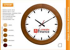 Zegar reklamowy drewniany round /300mm