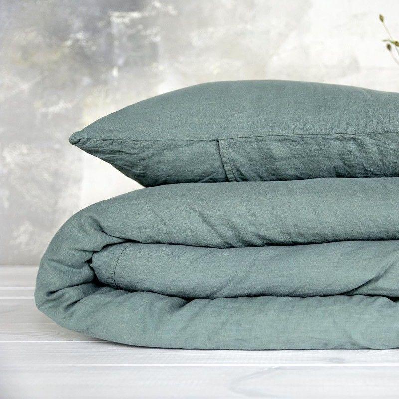 Poszewka na poduszkę lniana MOANA Pure, Rozmiar - 50x70, Kolor - eucaliptus green NAJLEPSZA CENA, DARMOWA DOSTAWA