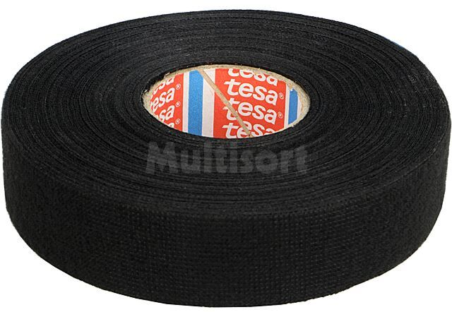 Taśma parciana TESA wełna PET 25mm L:25m czarny