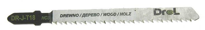 """Brzeszczoty do wyrzynarek z chwytem typu """"T"""",drewno/sklejka, długość pracy 75mm,5szt"""