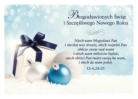 Kartka składana Boże Narodzenie 5 - Niech wam błogosławi Pan