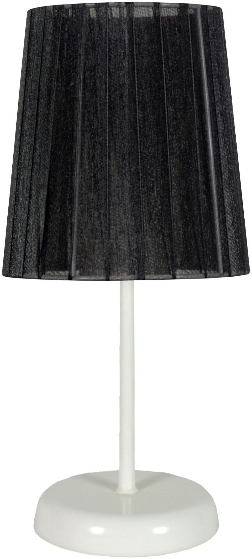 Candellux RIFASA 41-40879 lampa stołowa abażur czarna 1X40W E14 14 cm