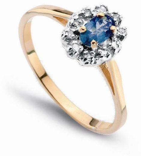 Złoty pierścionek PXD0521 - Diament