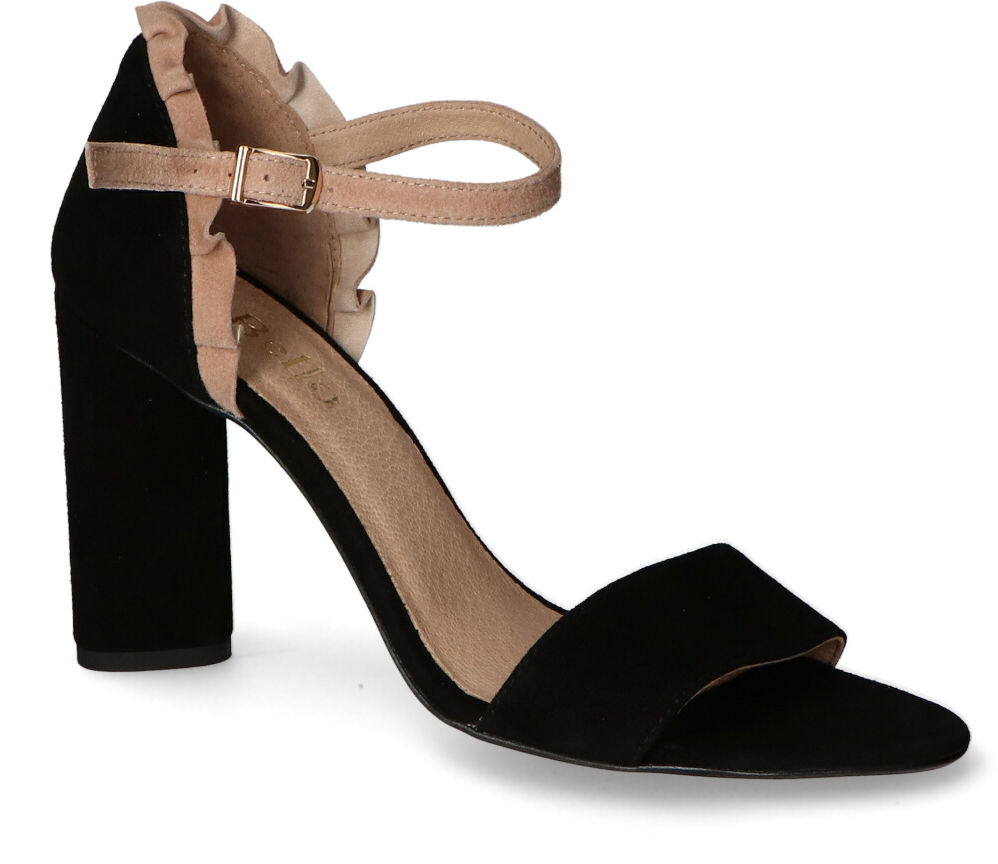 Sandały CheBello 2225-037-056 Czarne zamsz