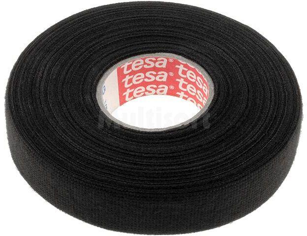 Taśma parciana TESA wełna PET 19mm L:25m czarny