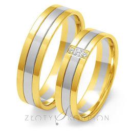 Obrączki ślubne Złoty Skorpion  wzór Au-OE29