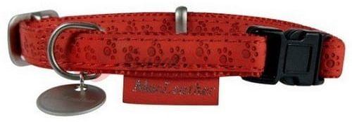 Zolux obroża regulowana Mac Leather 10mm czerwona