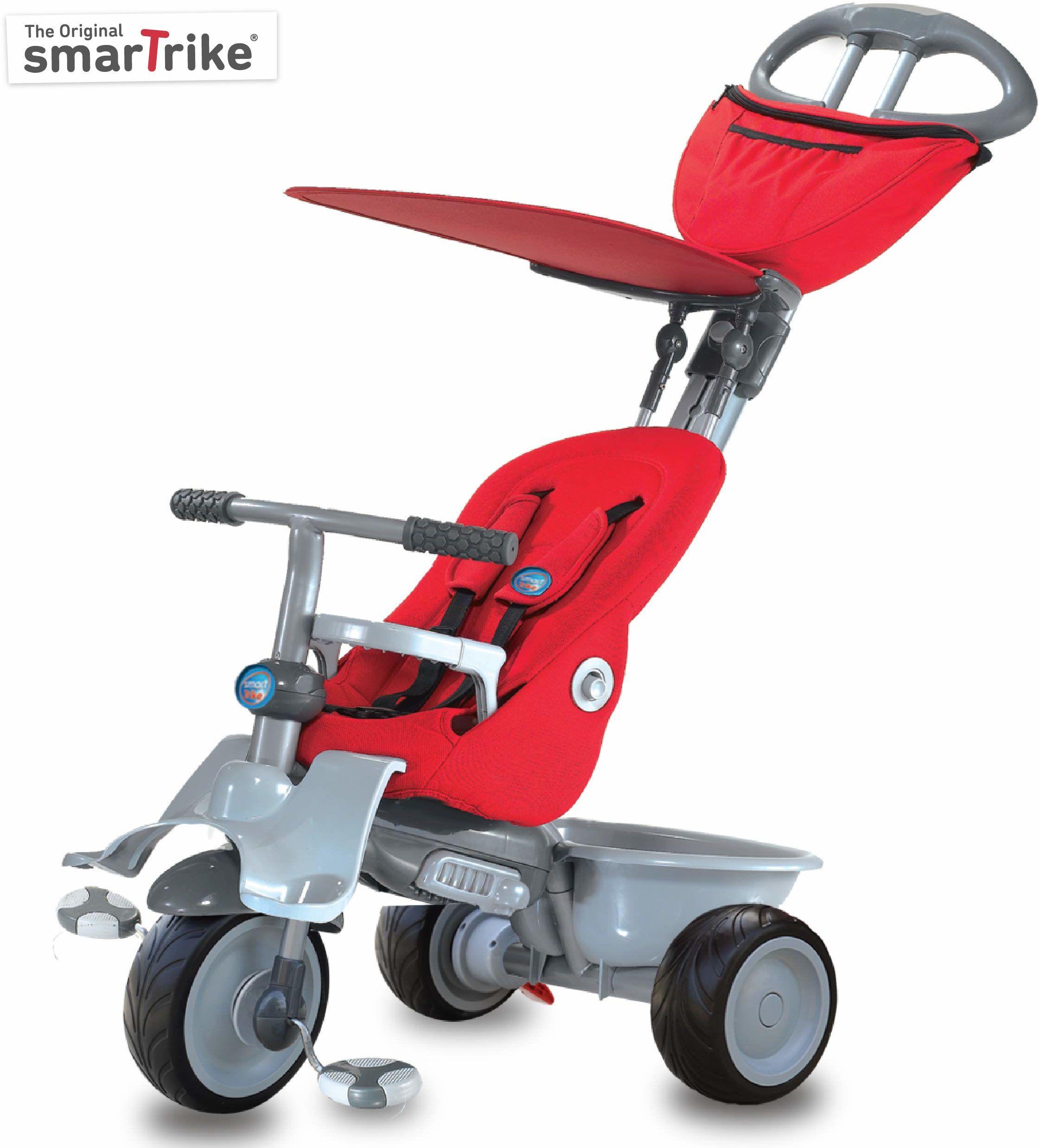 smarTrike Rower trzykołowy dla dzieci na 1 rok, czerwony
