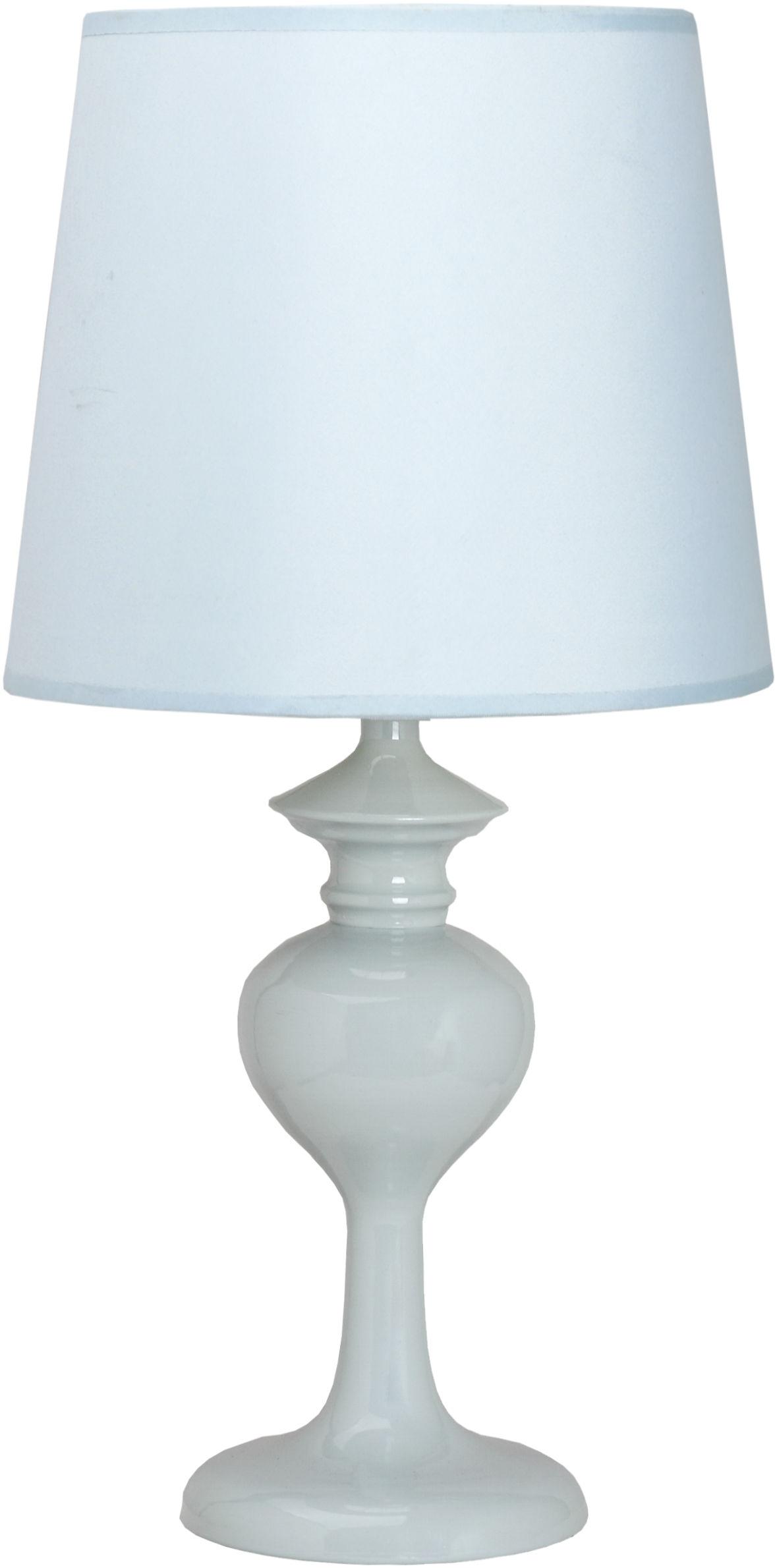 Candellux BERKANE 41-11749 lampa stołowa błękitna abażur 1X40W E14 20 cm