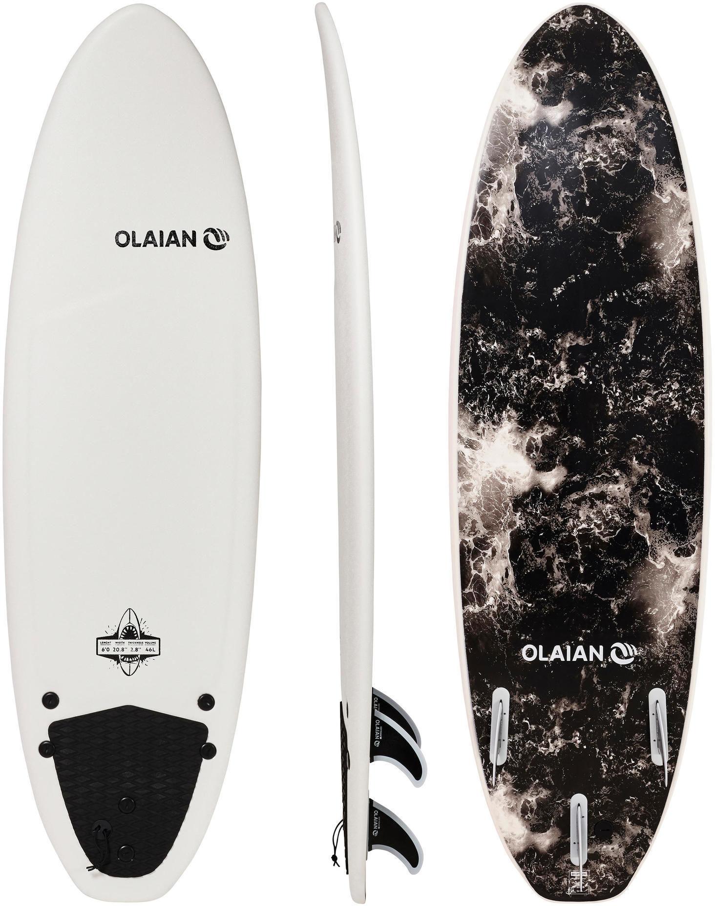 Deska Surfingowa Z Pianki 900 6'' Z 3 Statecznikami