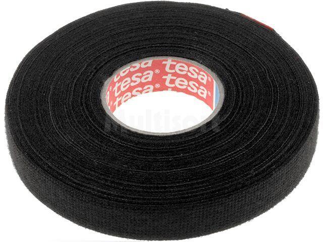 Taśma parciana TESA wełna PET 15mm L:25m czarny