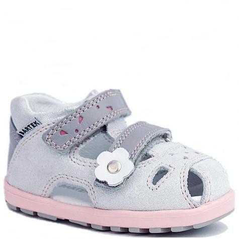 Bartek 11695-7/ 1MJ sandały sandałki profilaktyczne zabudowane dla dziewczynki