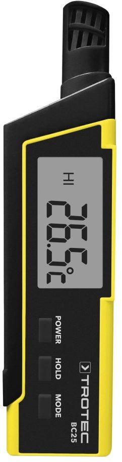 Termohigrometr BC25 oraz współczynnik przejmowania ciepła hi i wskaźnik obciążenia termicznego WBGT