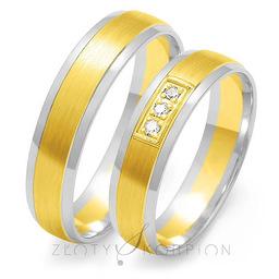 Obrączki ślubne Złoty Skorpion  wzór Au-OE33