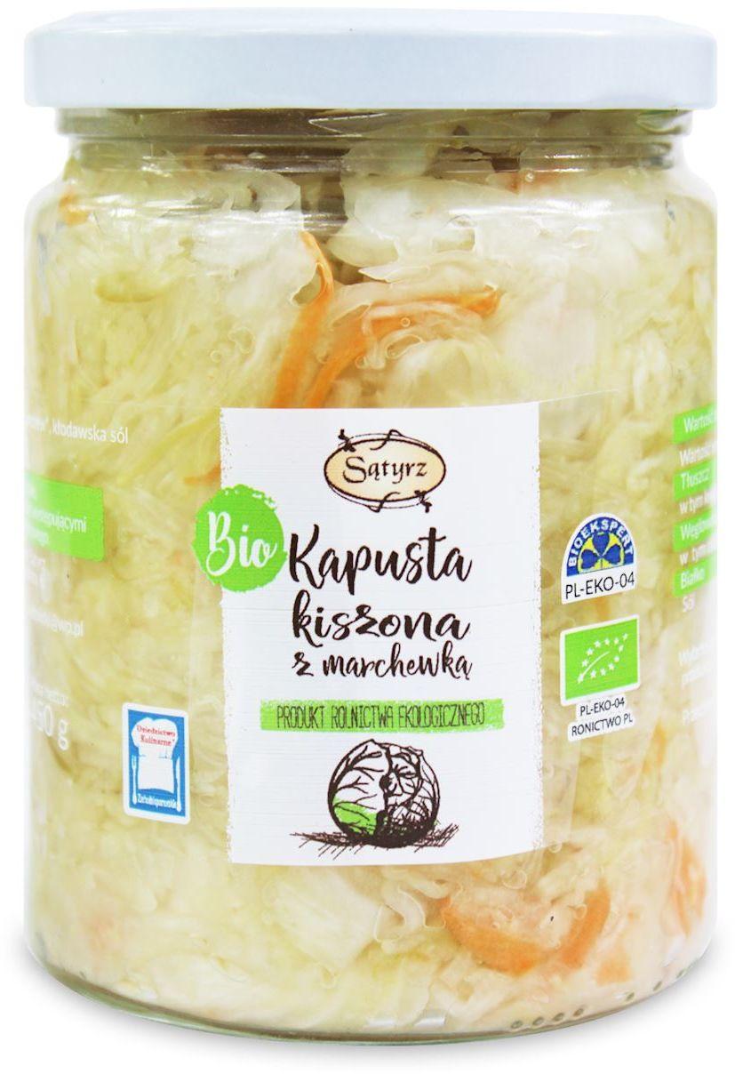 Kapusta kiszona z marchewką bio 450 g - sątyrz