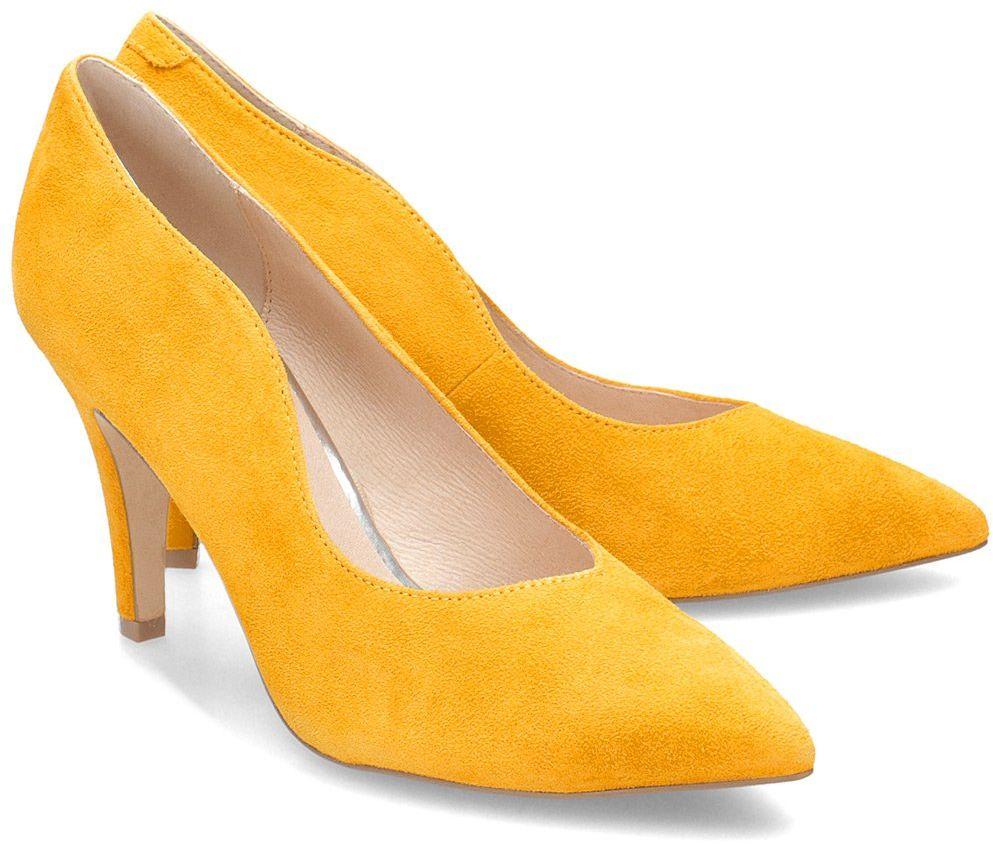 Caprice - Czółenka Damskie - 9-22403-24 641 - Żółty
