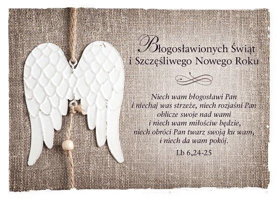 Kartka składana Boże Narodzenie 7 - Niech wam błogosławi Pan