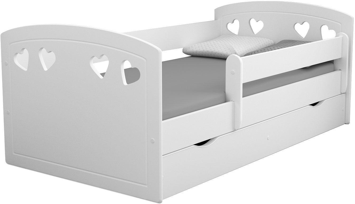 Łóżko dziecięce z materacem Nolia 2X 80x140 - białe