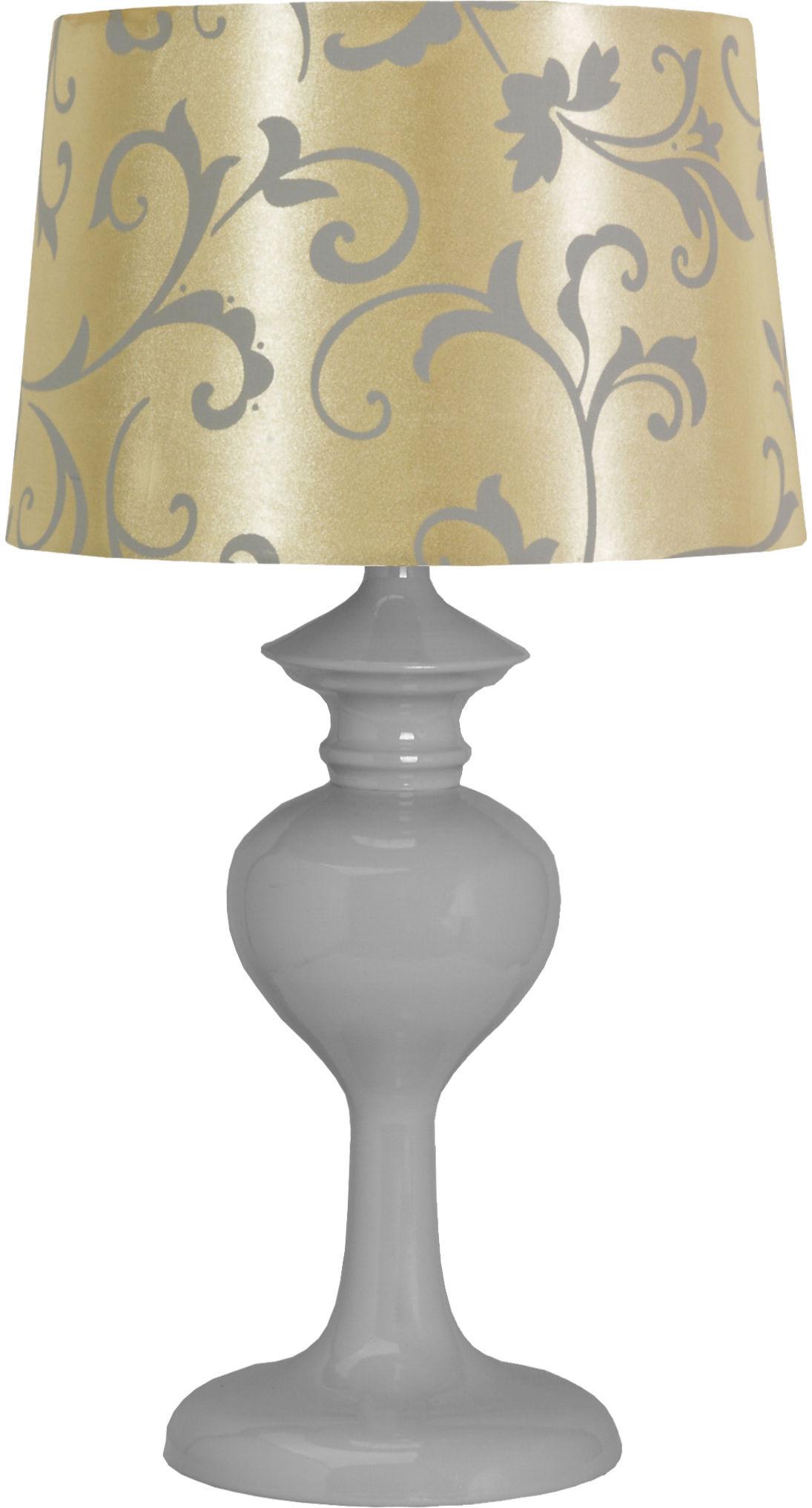 Candellux BERKANE 41-64431 lampa stołowa abażur szary/beżowy 1X40W E14 21cm