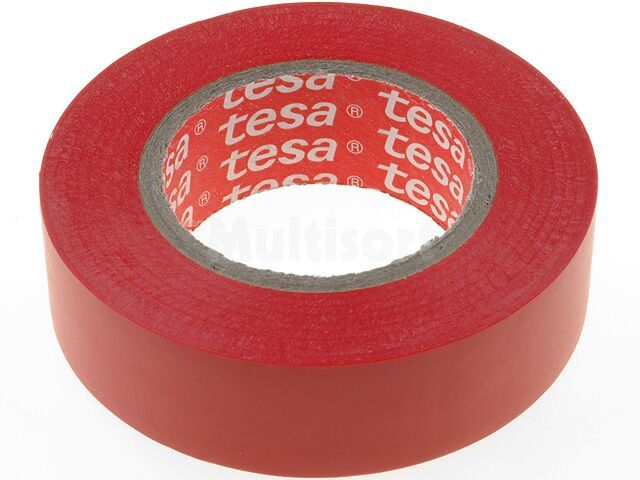 Taśma izolacyjna TESA PVC 19mm L:20m czerwony