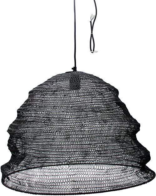 Lampa sufitowa, pergola, czarna, wymiary: 50 x 50 x 36 cm, kabel: 130 cm, materiał: metal (referencja: 3081448)