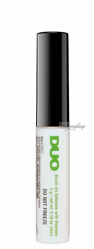 DUO - Brush On Striplash Adhesive - Klej do rzęs i kępek - WHITE/CLEAR
