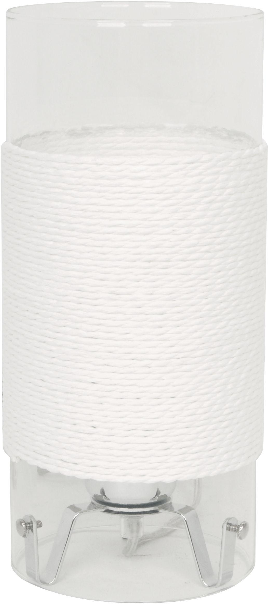 Candellux WRING 41-28006 lampa stołowa biały szklany klosz 1X60W E27 chrom 12cm