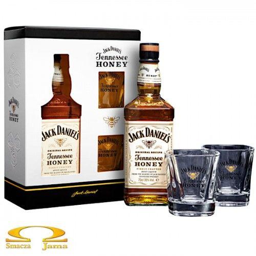 Likier Jack Daniel''s Honey 0,7l + 2 szklanki