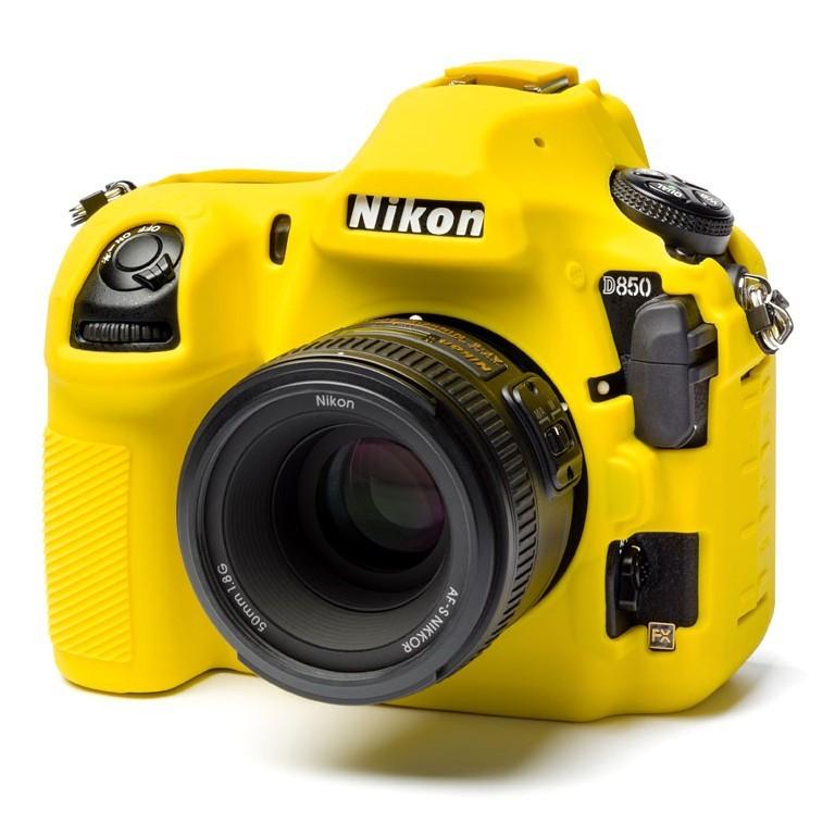 Osłona silikonowa easyCover do aparatu Nikon D850 żółta