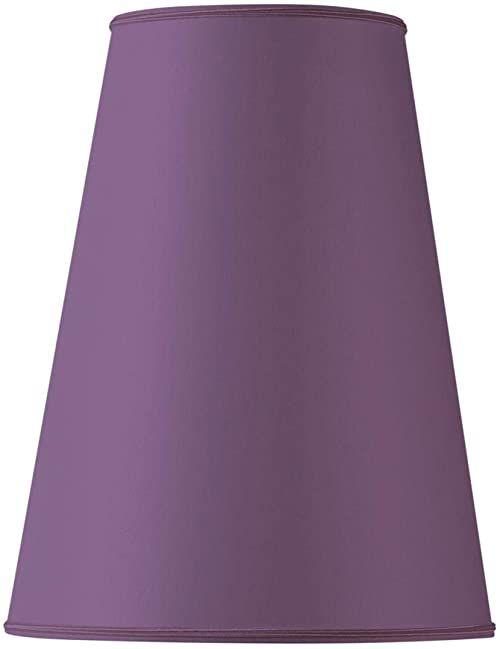 Klosz lampy w kształcie bistro, 25 x 13 x 37 cm, fioletowy