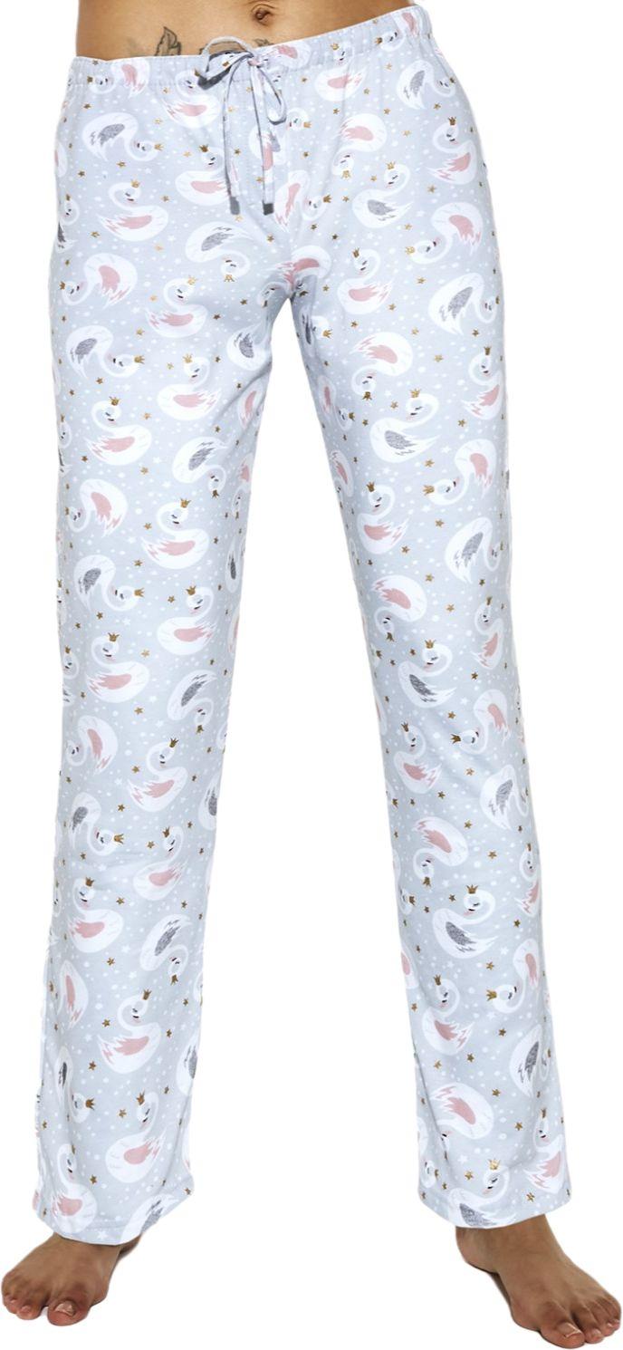 Bawełniane spodnie damskie do piżamy Cornette 690/30 szare