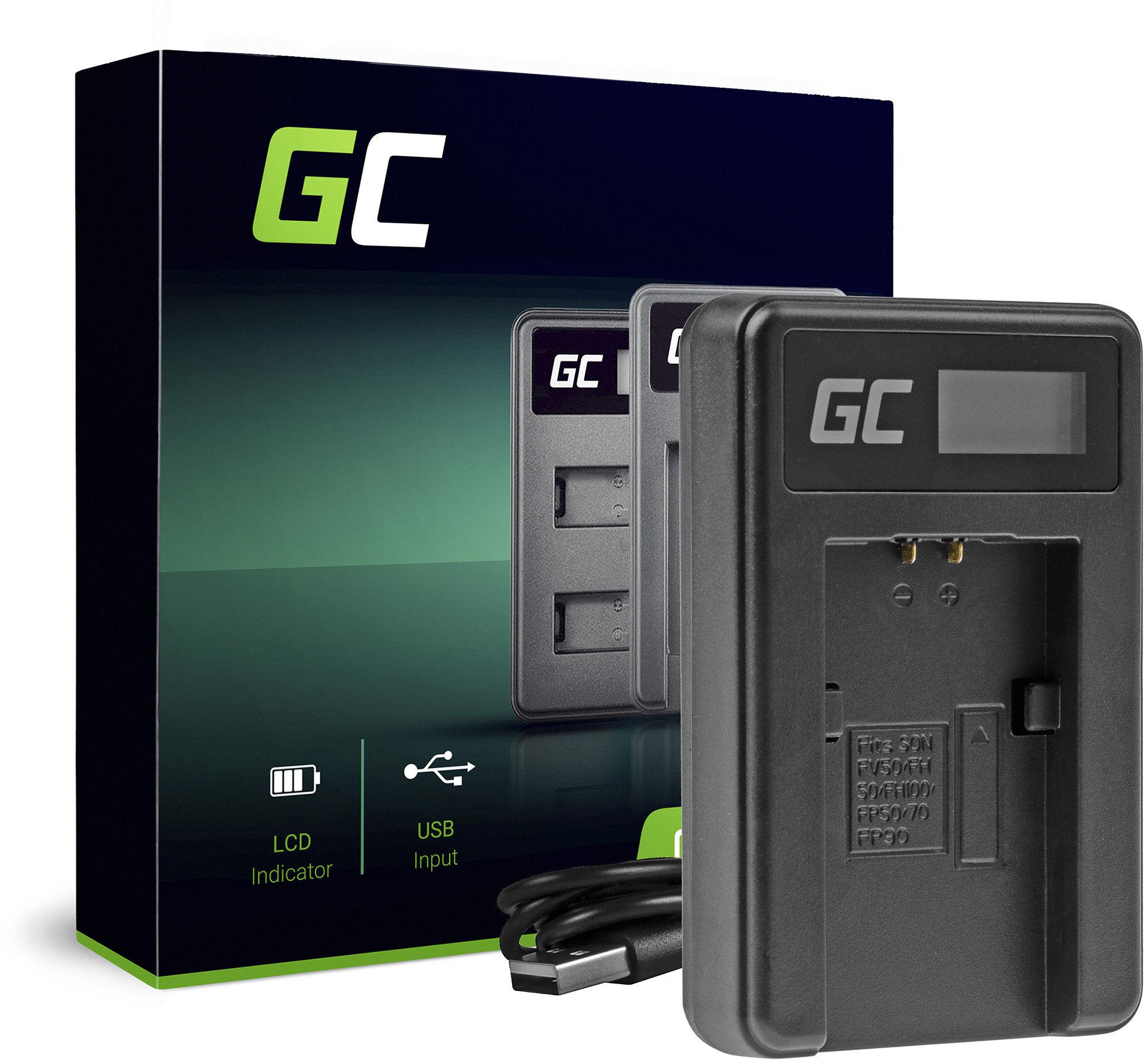 Ładowarka BC-TRP Green Cell  do Sony NP-FH50 DCR-HC45 SR32 SR33 SR35 SR36 SR37 SR38 SR40 SR50 SR60 SR80 SR100 SR300E SR70 SX50E