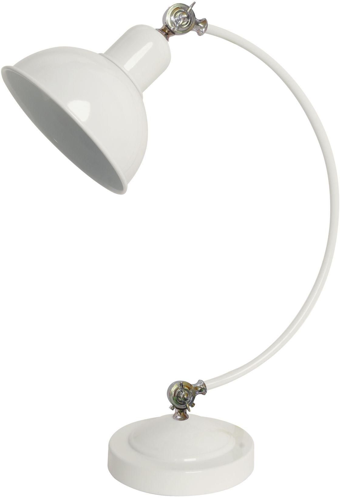 Candellux OLD 41-27931 lampa stołowa biała regulowany kąt nachylenia 1X40W E27 18 cm