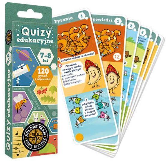 Xplore Team Quizy edukacyjne dla dzieci 7-8 lat ZAKŁADKA DO KSIĄŻEK GRATIS DO KAŻDEGO ZAMÓWIENIA