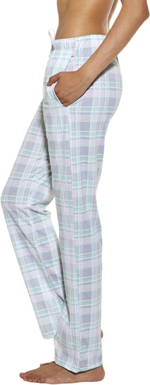 Bawełniane spodnie damskie do piżamy Cornette 690/27 szare
