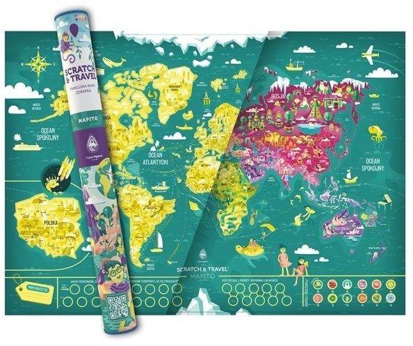 Mapa zdrapka. Familijna MAPITO