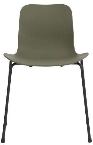 LANGUE Stack Chair Green Krzesło