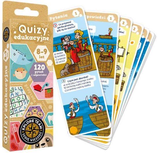 Xplore Team Quizy edukacyjne dla dzieci 8-9 lat ZAKŁADKA DO KSIĄŻEK GRATIS DO KAŻDEGO ZAMÓWIENIA