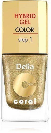 Delia Delia Cosmetics Coral Hybrid Gel Emalia do paznokci nr 28 złoty 11ml