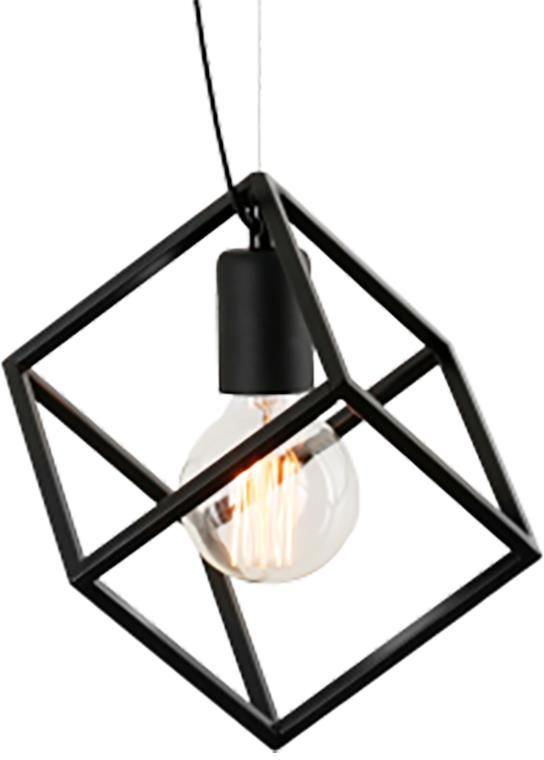Lampex Elena 844/1 lampa wisząca metalowa czarna geometryczny kształt klosza E27 1x60W 21cm