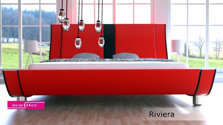 Łóżko do sypialni Riviera 180x200 - tkanina