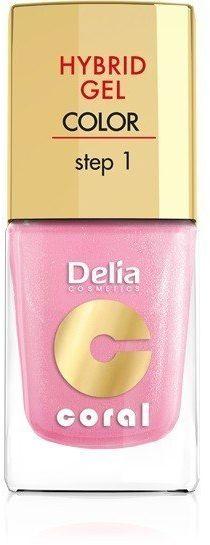 Delia Delia Cosmetics Coral Hybrid Gel Emalia do paznokci nr 31 perłowy róż 11ml