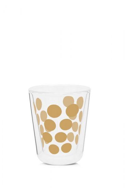 Zak! - Zestaw 2 szklanek 200ml z łyżeczkami, złoty