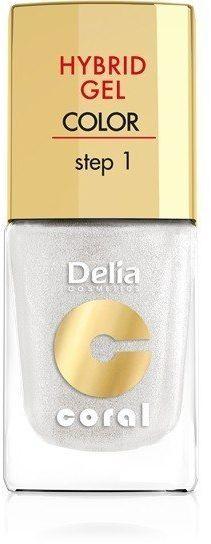 Delia Delia Cosmetics Coral Hybrid Gel Emalia do paznokci nr 32 biały perłowy 11ml