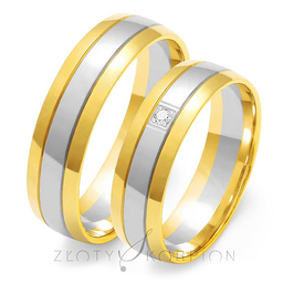 Obrączki ślubne Złoty Skorpion  wzór Au-OE38